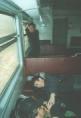 Бейсболисты Феоктистов Александр, Астапенко Дмитрий и Гарбарец Алексей в электричке по дороге из Находки
