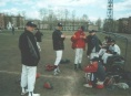 Бейсболисты Хабаровска в своём дагауте.