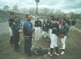Бейсболисты команды из Холмска, тренеры хабаровской и холмской команд