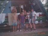 Владивостокские бейсболисты в спортивном лагере в Шмаковке - 1997 год